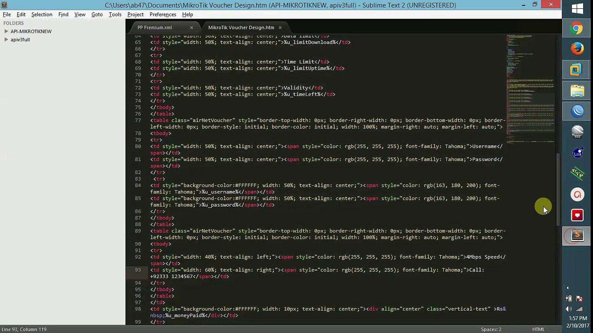 MikroTik - Usermanager Voucher Design Template | Userman voucher design