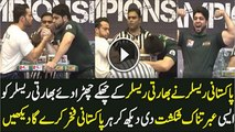 Pakistan Wrestler Become Champion 2015 Defeat Indian Wrestler In Arm Wrestling