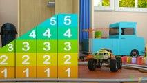 Apprendre les chiffres avec Max, le Train, et Bill, le Camion Monstre - JOUETS (Chiffres et Jouets)