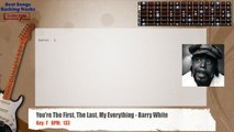 You're The First The Last My Everything - Barry White Guitar Backing Track