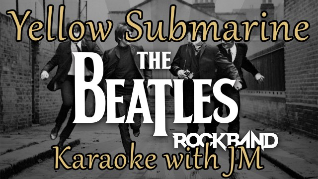 Yellow Submarine by The Beatles - Karaoke with JM