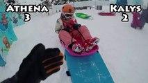 7 SECONDS CHALLENGE • Challenges entre soeurs dans la neige