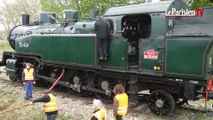 La gare de Villiers-Saint-Georges revit grâce à la locomotive à vapeur
