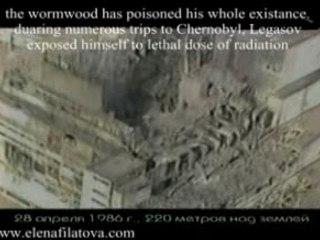 Valery Legasov flyes over Chernobyl's reactor #4