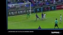 Zinedine Zidane : son jeune fils Elyaz Zidane marque un but splendide contre le Barça (vidéo)