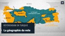 Référendum en Turquie: la géographie du vote montre un pays divisé en trois parties