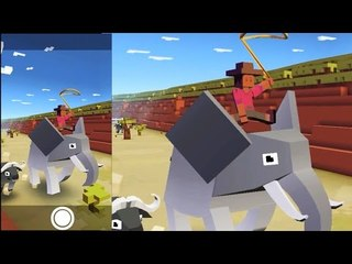 Ride a Buffalo Zebra Elephant and more Animal with Rodeo Stampede | Zoo Game for Chiledren