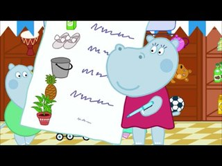 Peppa Hippo Supermarket  Shoping Cartoon Game For Kid