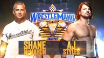 WrestleMania 33 Shane McMahon Vs. AJ Styles - Lucha Completa en Español (By el Chapu)
