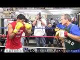 Amir Khan vs. Zab Judah: Amir Khan Media Workout at Wild Card Gym