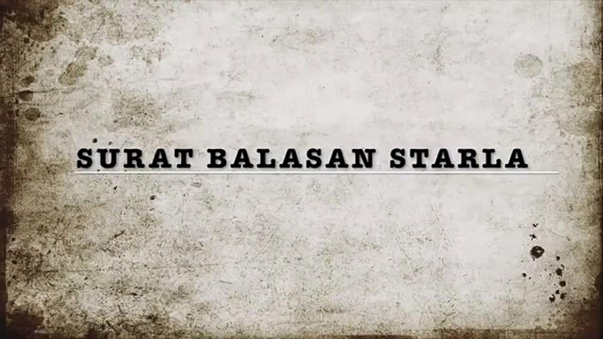 Surat Balasan Starla