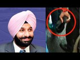 Punjab minister Bikram Singh Majithia attacked with shoe by Congress MLA | Oneindia News