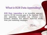 B2B Data Appending Services - B2B Capricorn