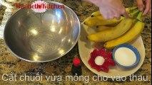 ---Bánh Chuối Hấp Nước Cốt Dừa - Steamed Banana Cake with Coconut Sauce
