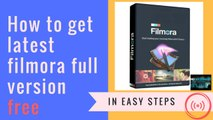 How to install Wondershare Filmora Video Editor Full Version Free