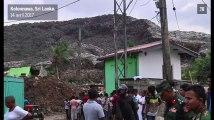 Sri Lanka : dans une décharge, une immense pile d'ordures s'effondre sur un bidonville