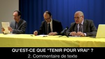 """II. Qu'est-ce que """"tenir pour vrai"""" ? Commentaire de texte, Frédéric LAUPIES"""