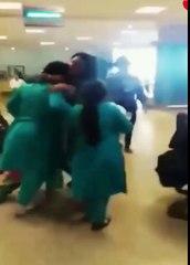 FIA female officers beat up two passengers at Islamabad airport ایف آئی والوں لڑکیوں کی پٹائی کر دی۔