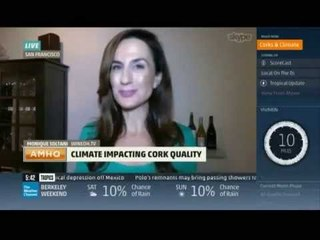 Monique Soltani Live Report on The Weather Channel: Climate Change impact on Wine Corks on AMHQ
