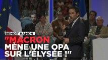 """Benoît Hamon : """"Emmanuel Macron mène une OPA sur l'Élysée !"""""""