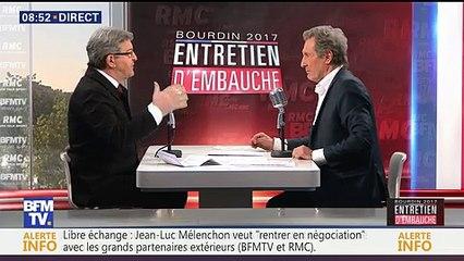 Entretien d'embauche Jean-Luc Mélenchon face à Jean-Jacques Bourdin sur BFMTV le 20/04/2017