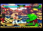 Marvel Super Heroes vs  Street Fighter-Gameplay (PS1)