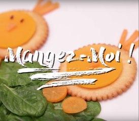 Des crackers poussins rigolos pour les enfants !