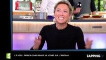 C à vous : Patrick Cohen en retard sur le plateau, Anne-Sophie Lapix le tacle (vidéo)