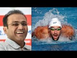 Michael Phelps wins 21st Olympic gold, Virender Sehwag wishes in funny way  Oneindia News