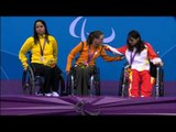 Swimming - Women's 50m Backstroke - S4 Victory Ceremony - London 2012 Paralympic Games
