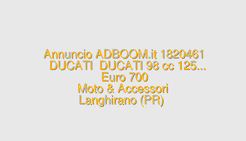DUCATI  DUCATI 98 cc 125…