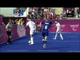 Football 5 a side   ESP versus FRA   2nd half   Men's Semifinal 1   London 2012 Paralympic Games