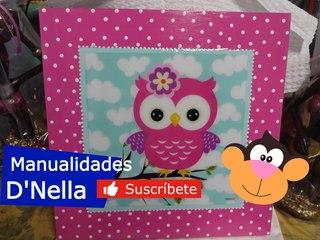"""Manualidades:Cuadros Decorativos Para Niñas:By""""Taller Nella 2017"""""""