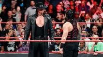 Undertaker vs Roman reigns   WWE wrestlemania 2017   The Undertaker retires