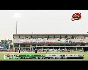 Hassan Khan hit a brilliant six to Usama Mir