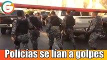 Policías se lían a golpes en Jalisco