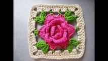 How to Make ROSE SQUARE CROCHET