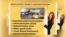 Get schools acoustics |sound absorbing panels | designer acoustic panels