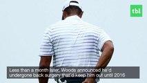 Tiger Woods timeline since last PGA Tour win