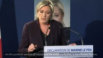 Marine Le Pen reacts to the terror attack in Paris
