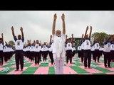 Yoga Day : PM Modi performs asanas, makes new announcement | Oneindia News