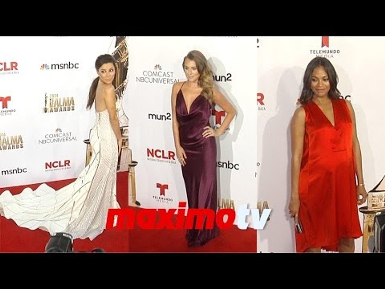 2014 ALMA Awards Eva Longoria, Zoe Saldana, Alexa PenaVega, Edy Ganem