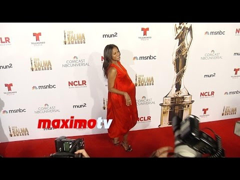 Zoe Saldana Baby Bump   2014 NCRL ALMA Awards   Red Carpet