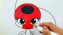 Cómo Dibujar Y Colorear A Tikki Kwami Miraculous Ladybug How To