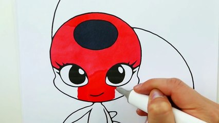 Miraculous Ladybug Coloring Book Pages Kwami Tikki Plagg   Evies Toy House