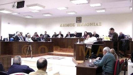 Δημοτικό Συμβούλιο Δήμου Παιονίας 22-12-2015