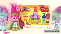 Pâte à modeler Play Doh Les Trolls Salon Coiffure Mode Poppy Press N Style Salon