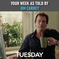Your Week as Told By Jim Carrey