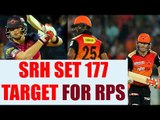 IPL 10 : Hyderabad puts 176 on scoreboard, thanks to Warner & Henriques | Oneindia News