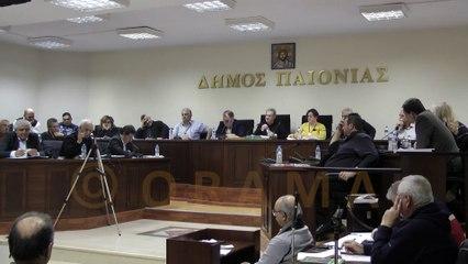 Δημοτικό Συμβούλιο Δήμου Παιονίας 21-01-2016